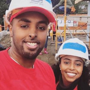 Hamdi and Daud building homes